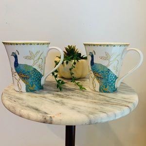 Peacock Garden Mug Set